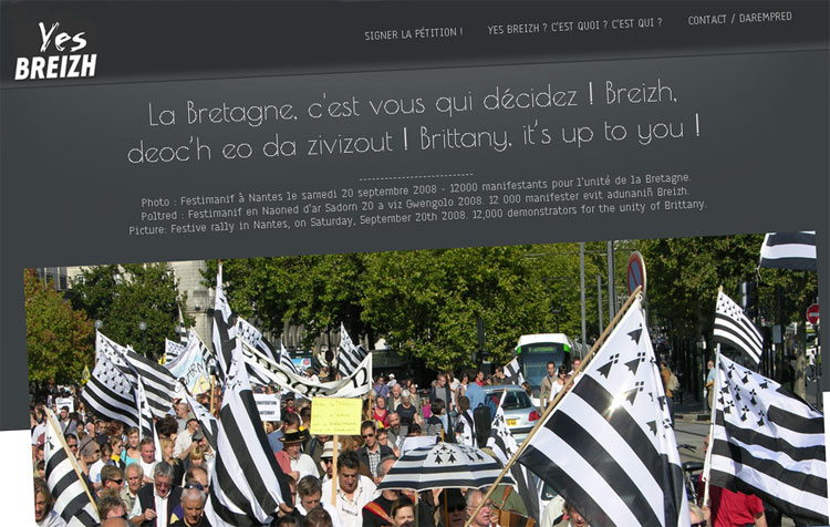 Yes Breizh, indépendance Bretagne.