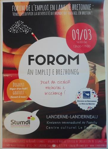 Forum du marché de l'emploi en breton.