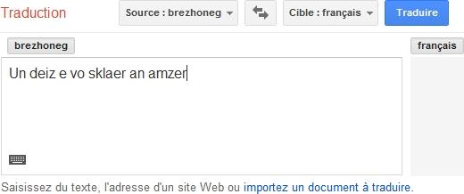 google traduction breton