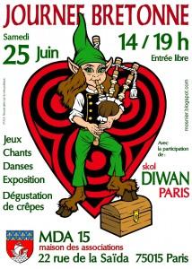 Affiche de l'école Diwan de Paris