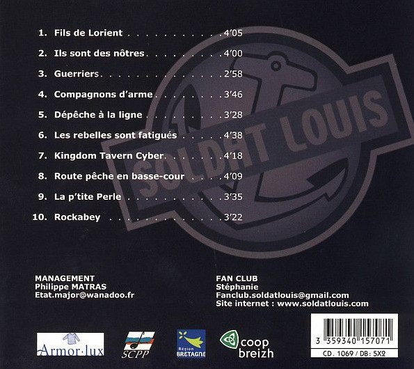 Pochette album Kingdom Tavern, Soldat Louis.
