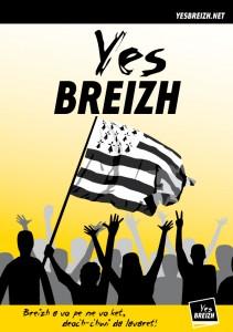 Affiche Yes Breizh indépendance Bretagne.