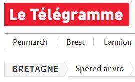 Langue bretonne dans Le Télégramme.