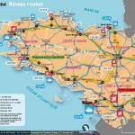 Carte du réseau breton (routes, autoroutes, TGV...) par GeoBreizh