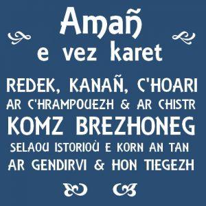 Tableau avec texte personnalisé en breton.