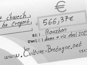 Ecrire un chèque en breton.