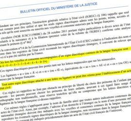La circularie interdisant certains prénoms bretons.