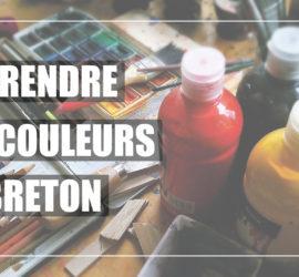 Les couleurs de peinture en breton.