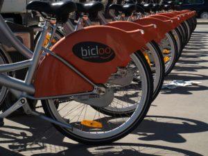 Les vélos Bicloo à Nantes.