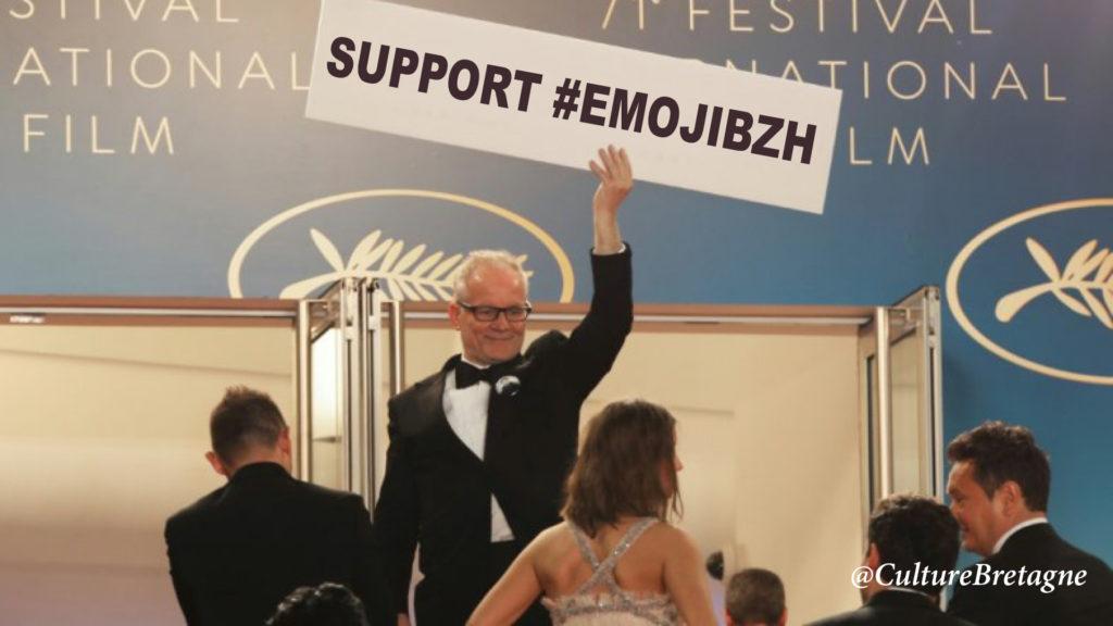 Le Festival de Cannes soutient l'Emoji breton.