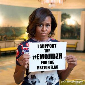 Michelle Obama soutient l'emoji pour la Bretagne.