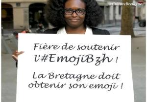 Sibeth Ndiaye soutient l'Emoji pour la Bretagne.