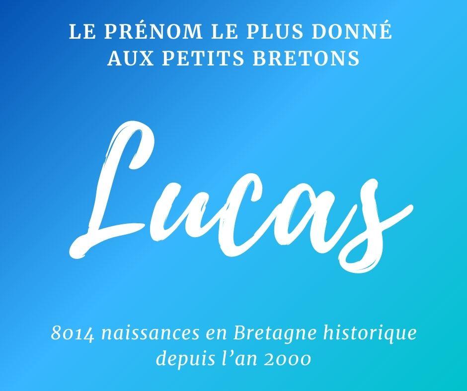Lucas, prénom le plus donné aux petits Bretons.